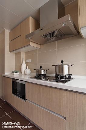 现代简约装修厨房设计三居现代简约家装装修案例效果图