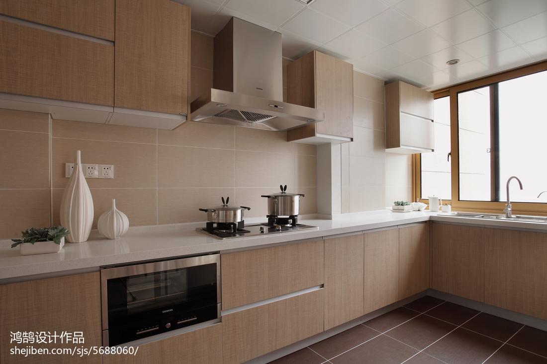 134㎡现代简约2017家装厨房效果图餐厅橱柜现代简约厨房设计图片赏析