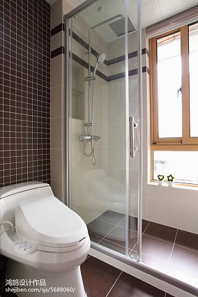 现代简约装修卫浴设计三居现代简约家装装修案例效果图