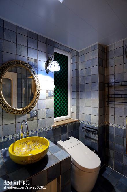 精美86平米二居卫生间地中海装修设计效果图片欣赏卫生间