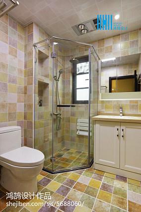 精美面积95平简约三居卫生间效果图片欣赏