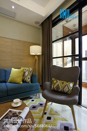 面积104平简约三居客厅装修设计效果图片81-100m²三居现代简约家装装修案例效果图