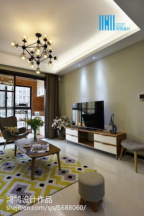 2018大小109平简约三居客厅效果图片大全
