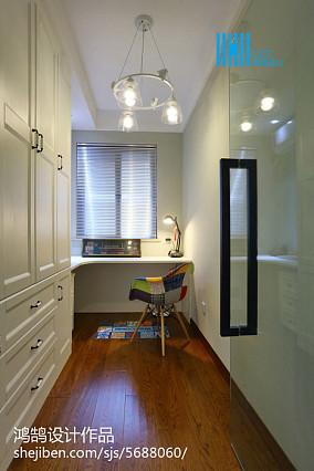 面积92平简约三居书房装修实景图片欣赏