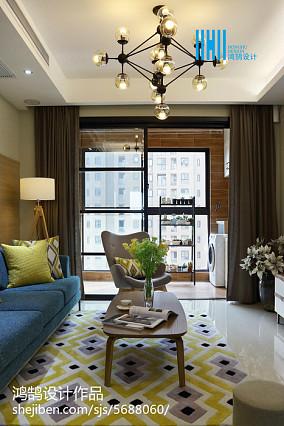 2018精选面积100平简约三居客厅装修效果图片欣赏