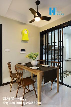 2018三居餐厅简约欣赏图81-100m²三居现代简约家装装修案例效果图