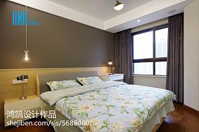 热门面积94平简约三居卧室装修设计效果图81-100m²三居现代简约家装装修案例效果图