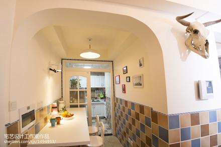 热门面积108平地中海三居餐厅欣赏图片大全