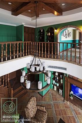 平米美式别墅休闲区欣赏图片别墅豪宅美式经典家装装修案例效果图