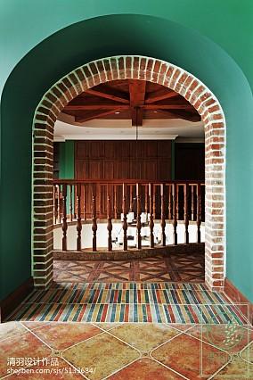 精美143平米美式别墅过道效果图片欣赏别墅豪宅美式经典家装装修案例效果图