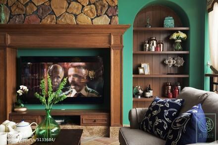 精美面积124平别墅客厅美式欣赏图客厅1图