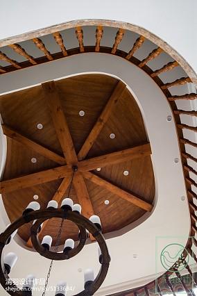 轻奢802平美式别墅客厅效果图家装装修案例效果图