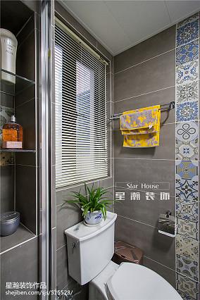 热门84平米现代小户型卫生间效果图片欣赏