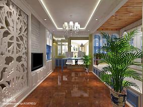 面积85平欧式二居装修实景图片