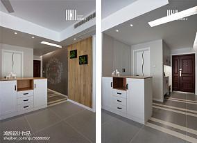 精美93平米三居玄关北欧装修实景图家装装修案例效果图