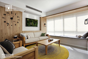 平米三居客厅北欧欣赏图片大全三居北欧极简家装装修案例效果图