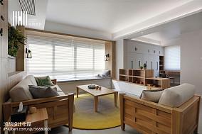 精选大小104平北欧三居客厅实景图三居北欧极简家装装修案例效果图