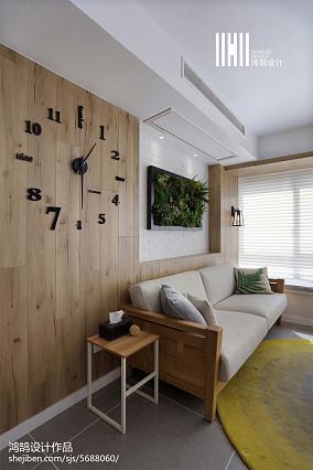 精美面积109平北欧三居客厅装修效果图三居北欧极简家装装修案例效果图