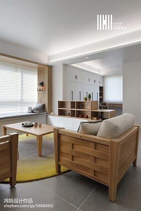 精选面积90平北欧三居客厅实景图片大全三居北欧极简家装装修案例效果图