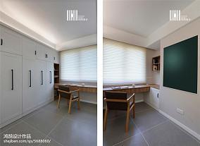轻奢95平北欧三居书房布置图三居北欧极简家装装修案例效果图
