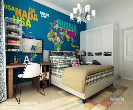 热门117平米北欧别墅儿童房装修图