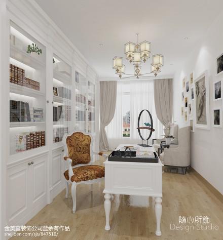 精致500平北欧别墅书房设计美图别墅豪宅北欧极简家装装修案例效果图