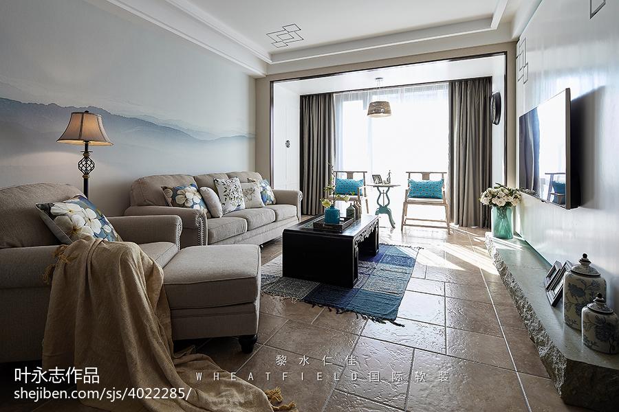 99平米3室客厅混搭效果图片大全客厅3图潮流混搭客厅设计图片赏析