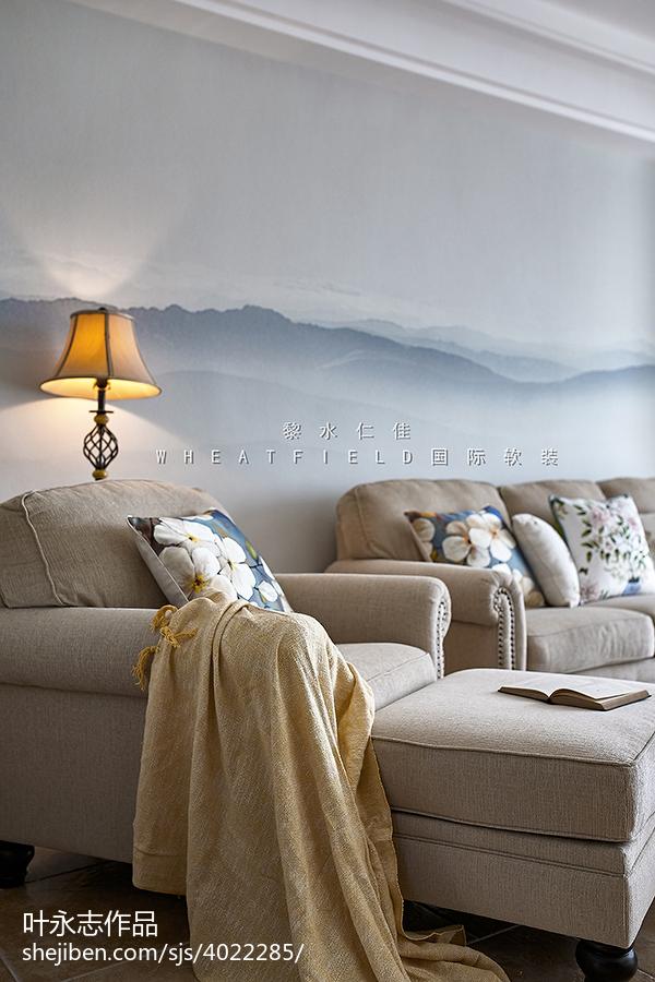 90平方三居客厅混搭装修实景图片欣赏客厅