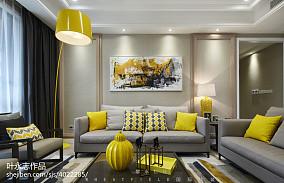 面积100平现代三居装修效果图片