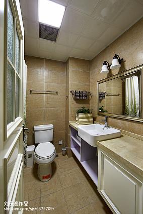 热门114平米四居卫生间美式设计效果图