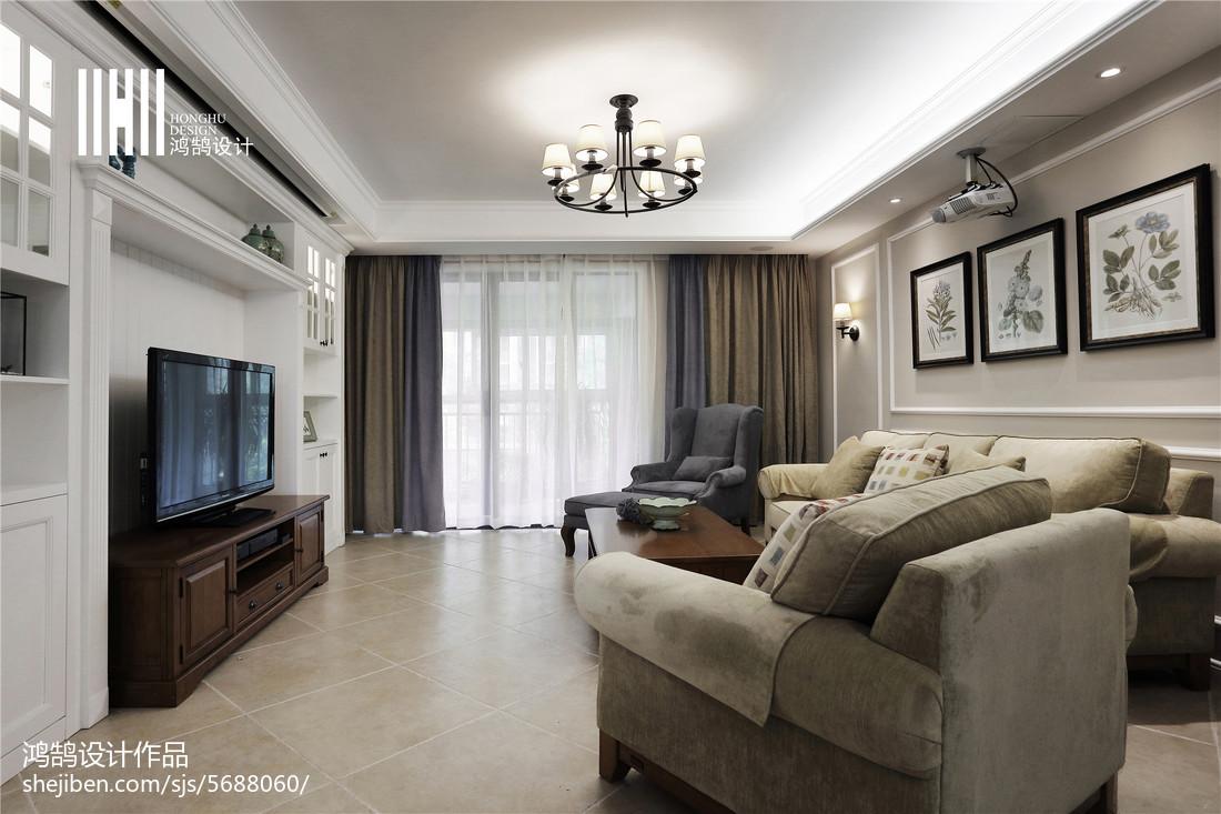 精选面积139平美式四居客厅装修效果图片客厅美式经典客厅设计图片赏析