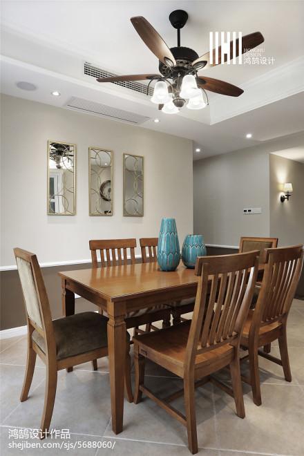 美式四居装修设计效果图片