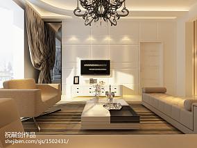 精美70平米二居客厅简约装修效果图片大全