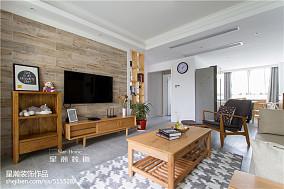 2019105平日式二居客厅装修效果图