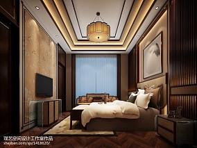2018精选中式别墅卧室装修设计效果图片欣赏