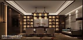 2018精选135平米中式别墅休闲区装修设计效果图