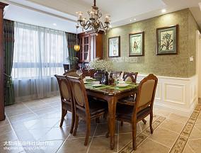 热门面积108平美式三居餐厅效果图片欣赏