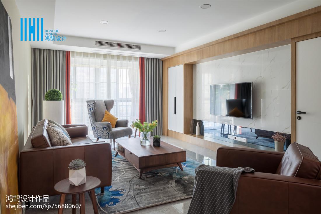 热门面积95平北欧三居客厅装修实景图客厅北欧极简客厅设计图片赏析
