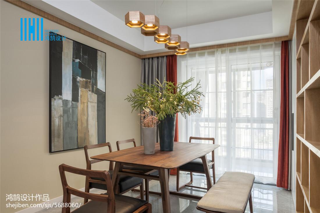 面积109平北欧三居餐厅装修图片厨房北欧极简餐厅设计图片赏析