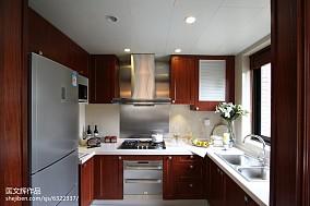 典雅107平欧式四居厨房装修美图餐厅欧式豪华设计图片赏析
