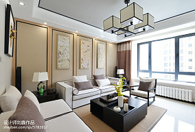 中式格调客厅装修设计客厅2图中式现代设计图片赏析