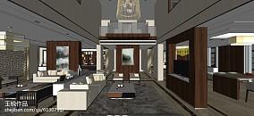 热门面积129平复式休闲区中式装饰图片