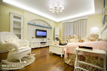 热门面积87平地中海二居客厅装饰图片大全客厅