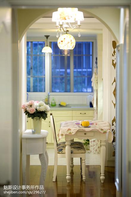 精美89平米二居玄关地中海装修实景图厨房1图