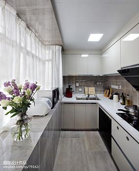 明亮112平混搭三居厨房实拍图餐厅潮流混搭设计图片赏析