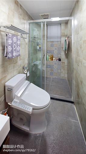 华丽90平混搭三居设计图卫生间1图潮流混搭设计图片赏析