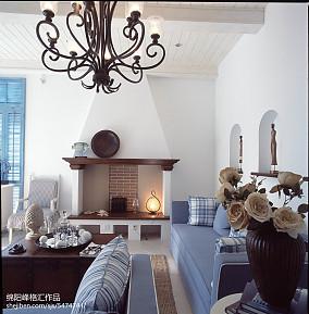 热门地中海复式客厅装饰图片欣赏复式地中海家装装修案例效果图
