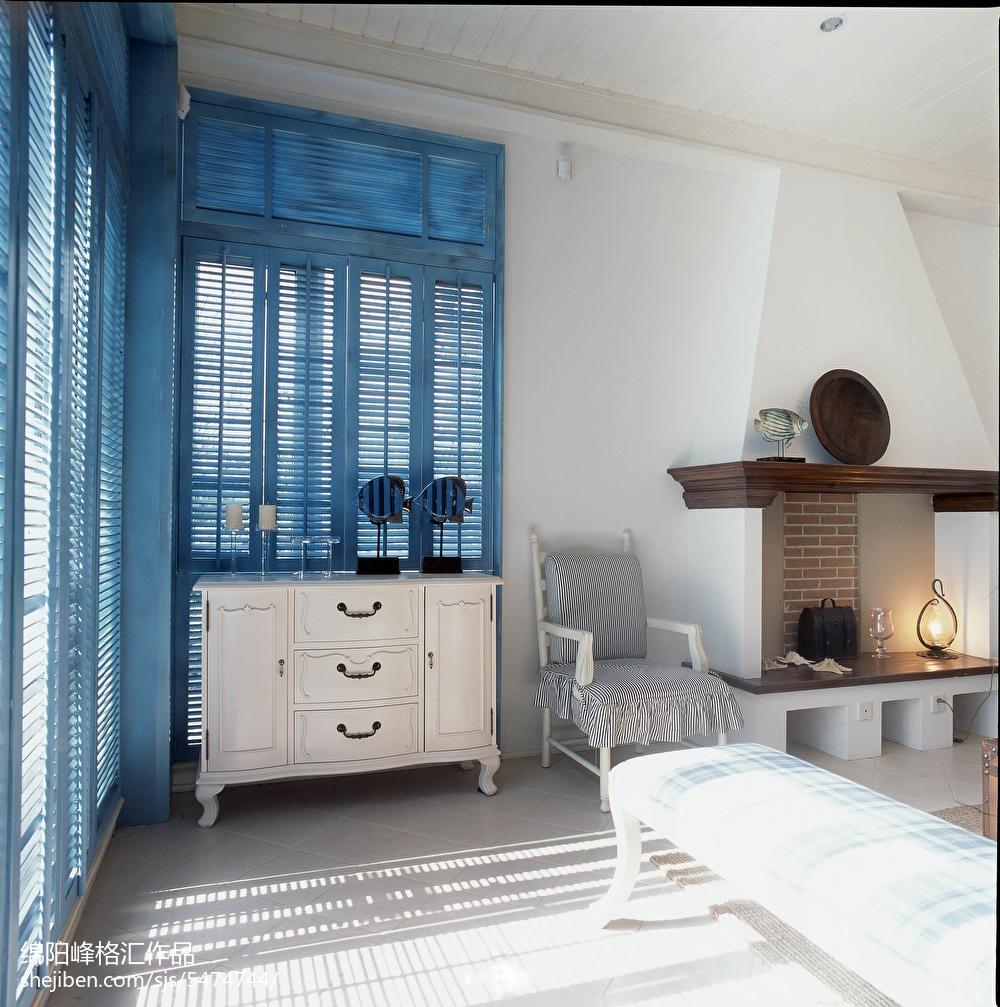 热门125平米地中海复式客厅实景图片大全复式地中海家装装修案例效果图