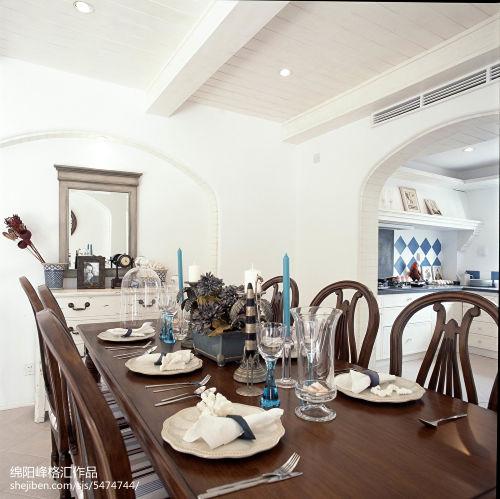 面积117平复式餐厅地中海装修效果图厨房吊顶