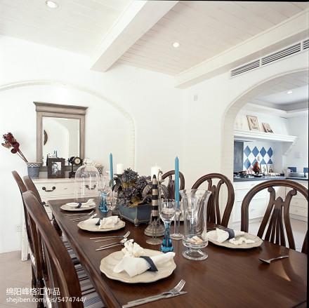 面积117平复式餐厅地中海装修效果图厨房